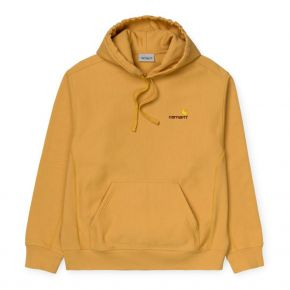 CARHARTT WIP HOODED AMERICAN SCRIPT SWEAT I028279-0G1-00