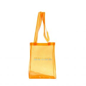 JOUER STUDIOS THE TRANSPARENT TOTE BAG MANDARIN ORANGE THE-TRANSPARENT-TOTE-BAG-MANDARIN-ORANGE