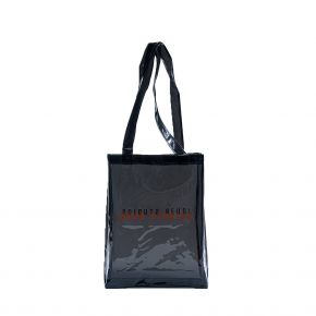 JOUER STUDIOS THE TRANSPARENT TOTE BAG NOIR THE-TRANSPARENT-TOTE-BAG-NOIR
