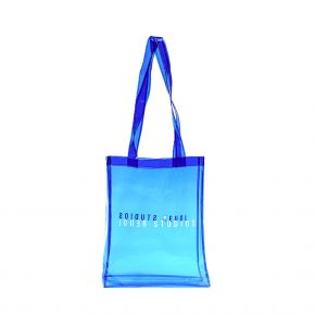 JOUER STUDIOS THE TRANSPARENT TOTE BAG SEA BLUE THE-TRANSPARENT-TOTE-BAG-SEA-BLUE