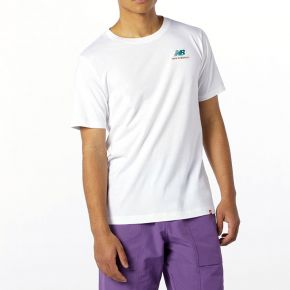 NEW BALANCE ESSENTIALS EMBRIODERED TEE MT11592-WHITE