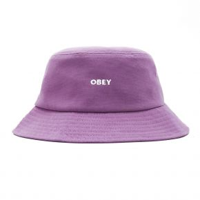 OBEY BOLD CANVAS BUCKET HAT 100520054-ORCHID