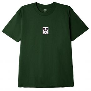 OBEY DOUBLE VISION CLASSIC T-SHIRT 165262587-FOREST-GREEN