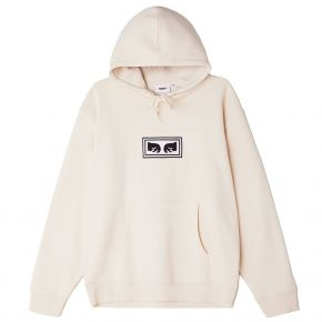 OBEY EYES LOGO PULLOVER HOOD 112470134-UNBLEACHED