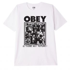 OBEY IS THERE ANY FUTURE CLASSIC T-SHIRT 165262802-WHITE