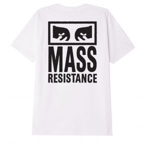 OBEY MASS RESISTANCE CLASSIC T-SHIRT 165262784-WHITE