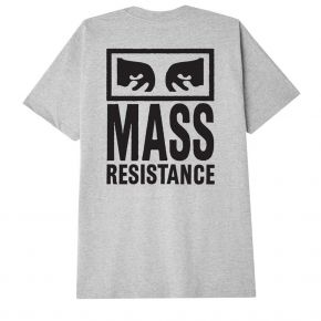 OBEY MASS RESISTANCE CLASSIC T-SHIRT 165262784-HEATHER-GREY