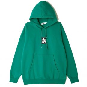 OBEY OBEY EYES ICON 3 PREMIUM PULLOVER HOOD 112842712-IVY