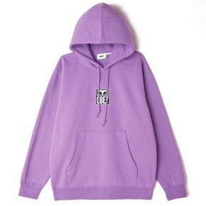 OBEY OBEY EYES ICON 3 PREMIUM PULLOVER HOOD 112842712-ORCHID