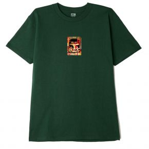 OBEY OBEY ICON FACE COLLAGE CLASSIC T-SHIRT 165262803-FOREST-GREEN